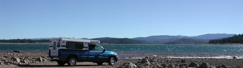 four-wheel-popu-truck-camper-lake-tahoe-CA-dodge-ram-2500-long-bed-diesel